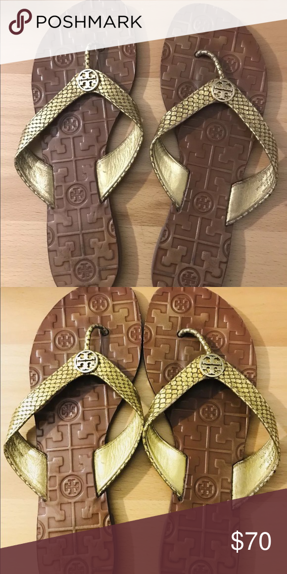 50de75341 100% authentic Tory Burch flip flops Like new worn a couple of times brand  new condition Tory Burch Shoes Sandals