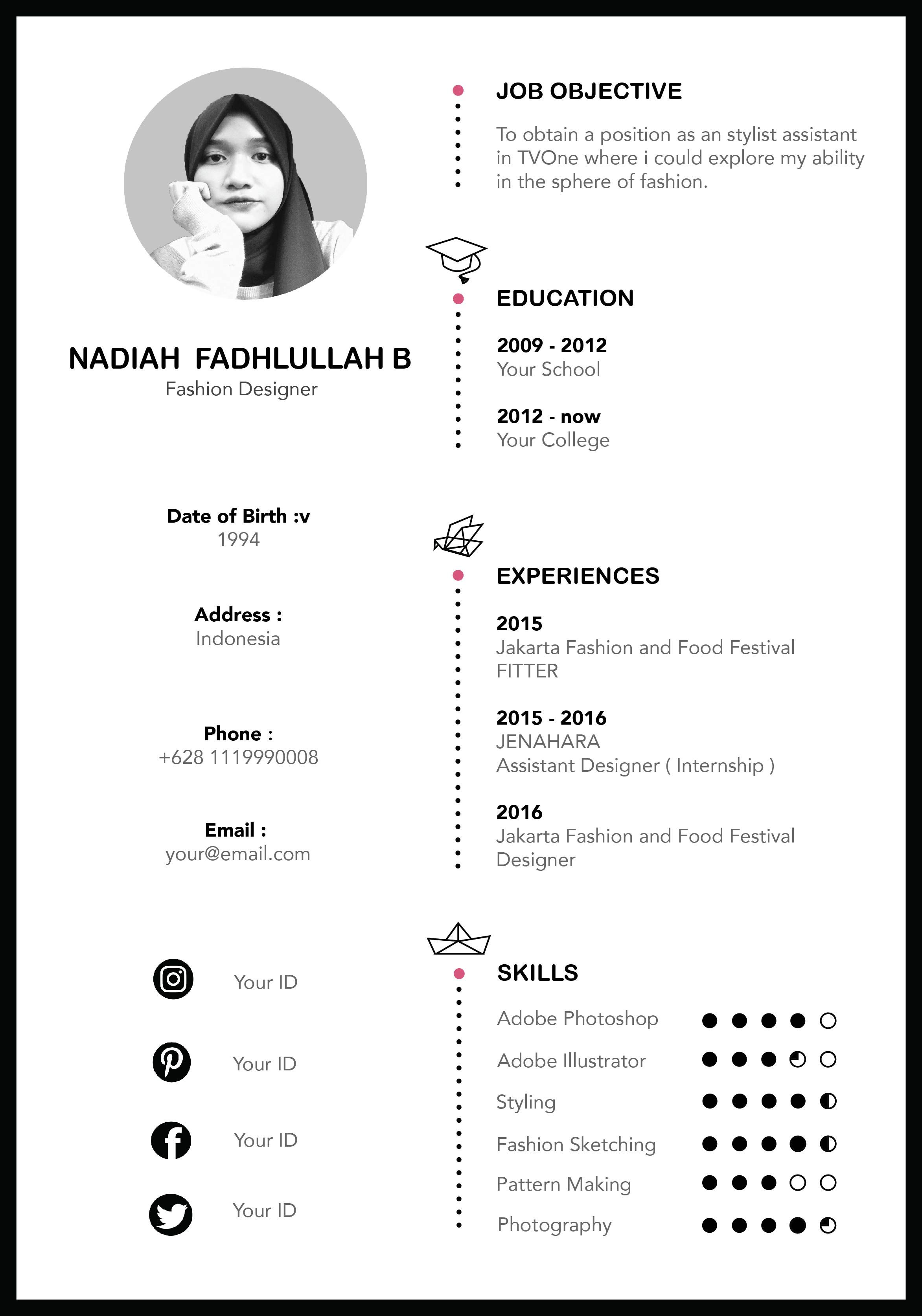 This super chic, clean, professional and modern resume