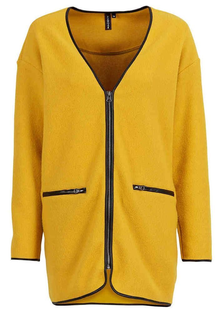 Fleecejacke gelb damen