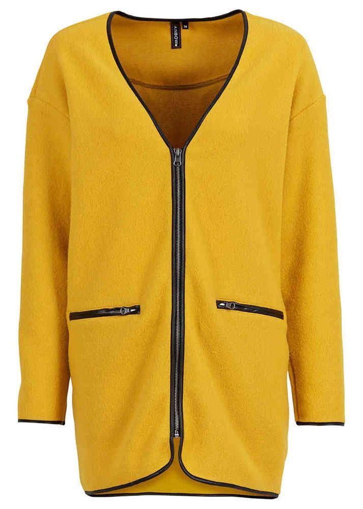 damen fleecejacke gelb pullover jacke ponchojacke neu gr. Black Bedroom Furniture Sets. Home Design Ideas