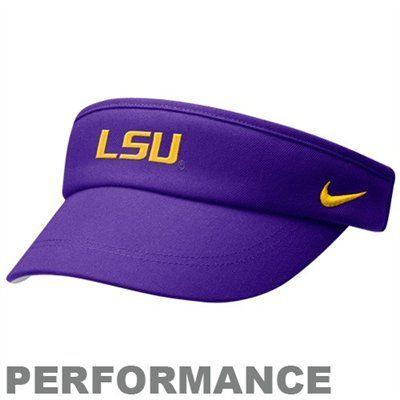 f78edf3c73115e Nike LSU Tigers Purple Coaches Performance Adjustable Visor Nike Visor,  Visors, Nike Dri Fit