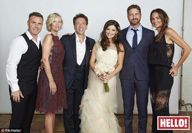 Gary Barlow And Gerard Butler Attend Ross King S Star Studded Wedding Gerard Butler Gary Barlow Beautiful Bride