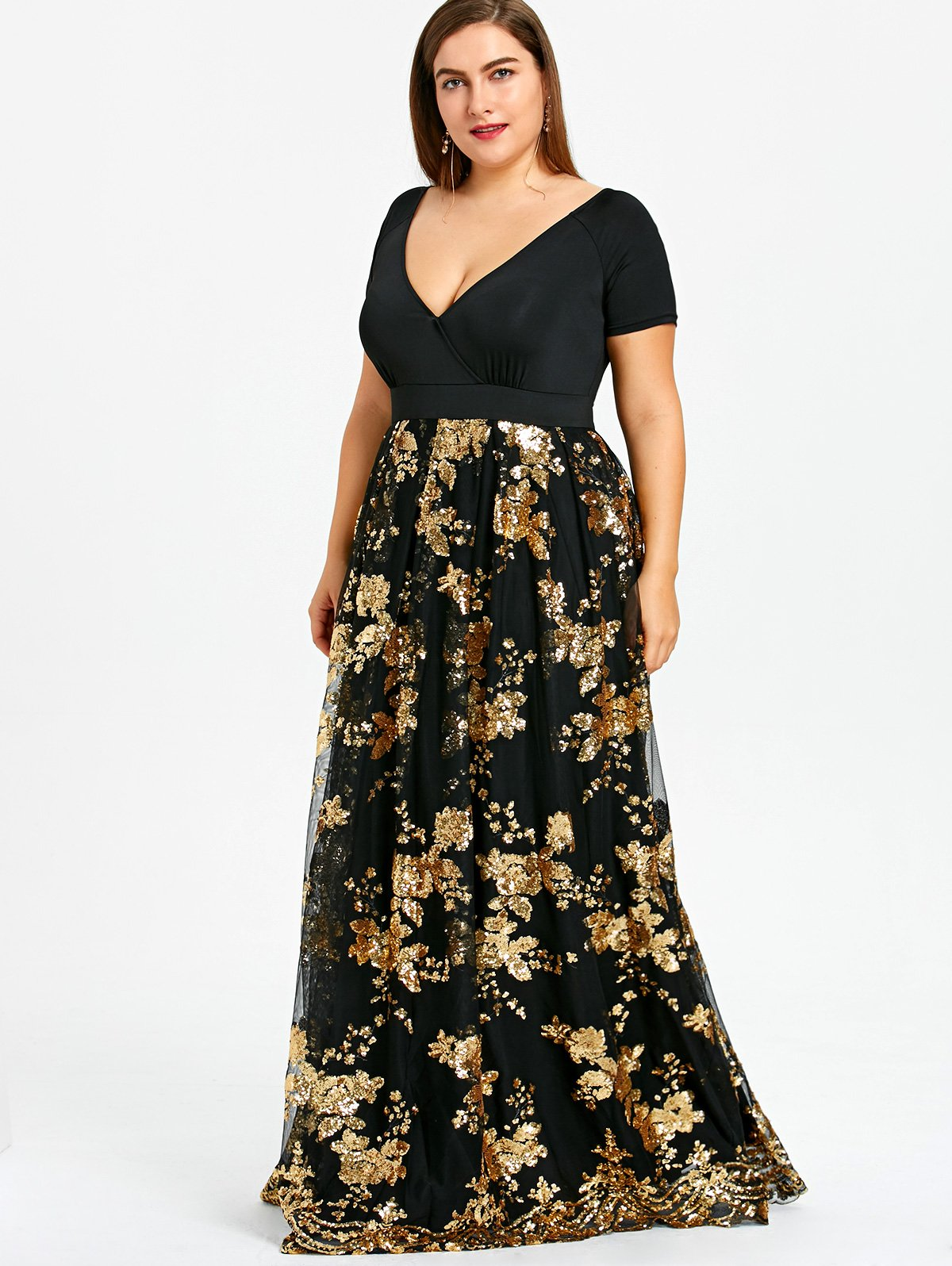 Sparkly sequined prom maxi dress in fashun pinterest