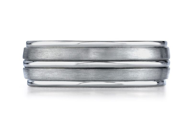 benchmark-cobaltchrometm-silver-8mm-comfort-fit-satin-finished-parallel-silver-inlay-design-ring-band