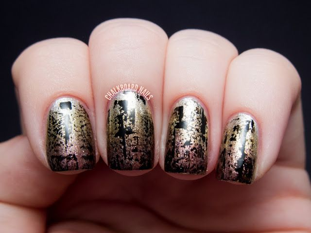 cool metal gradient with distressing .. to do the black just wipe the brush almost all the way off! so easy!