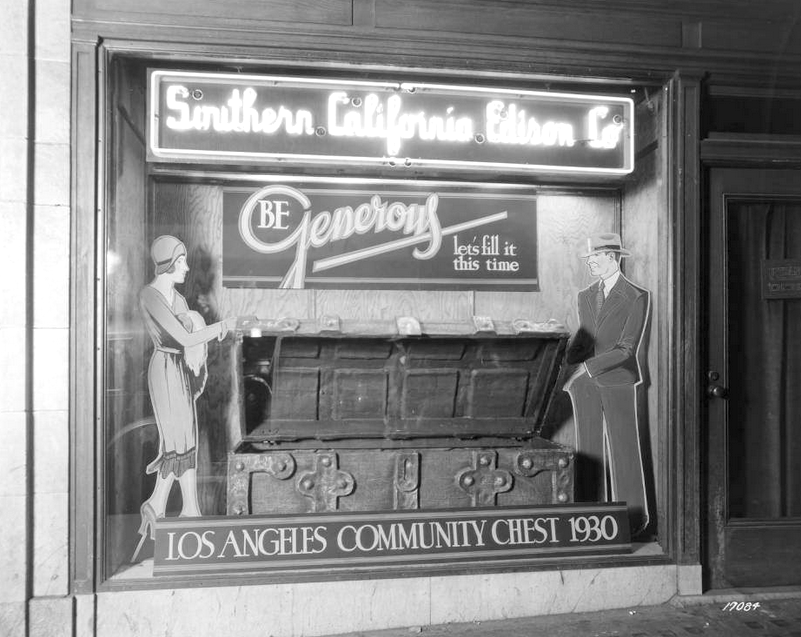Southern California Edison Community Chest Display Window 3rd Street Downtown Los Angeles 1930 Los Angeles Vintage California California Dreaming