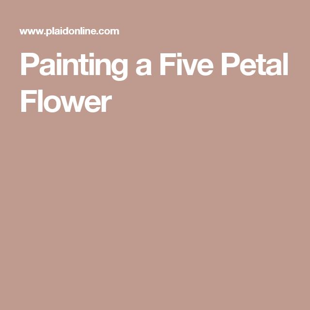 Painting a Five Petal Flower