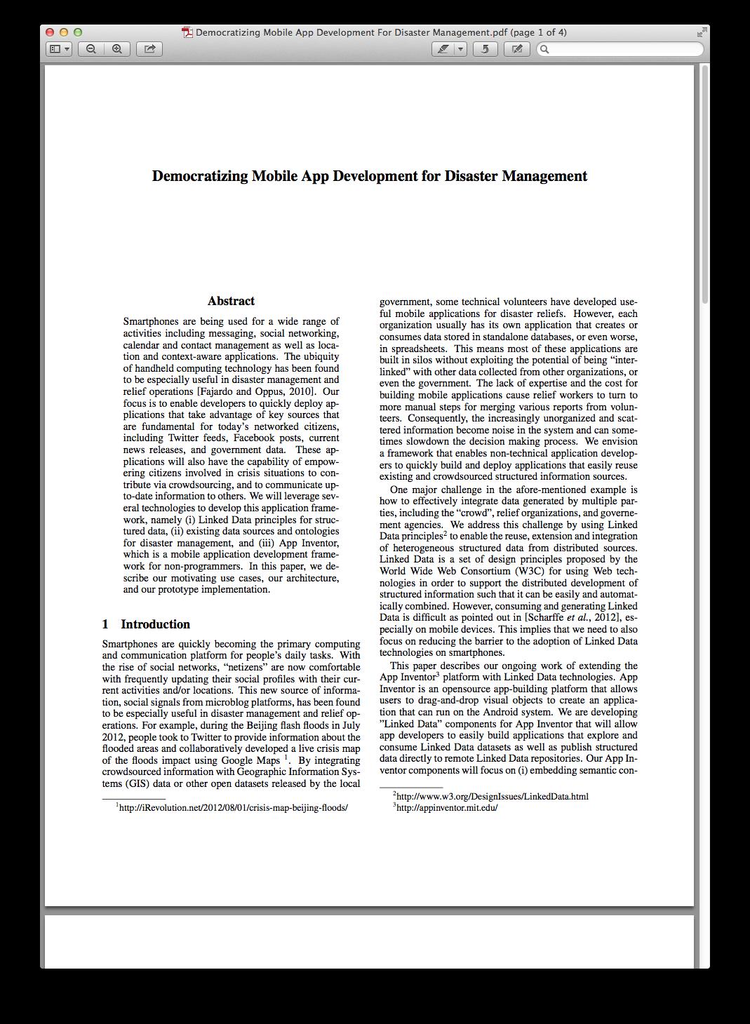 Democratizing Mobile App Development For Disaster