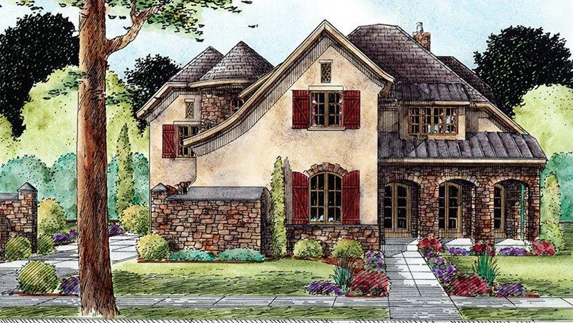 European Style House Plan 4 Beds 6 Baths 5098 Sq Ft Plan