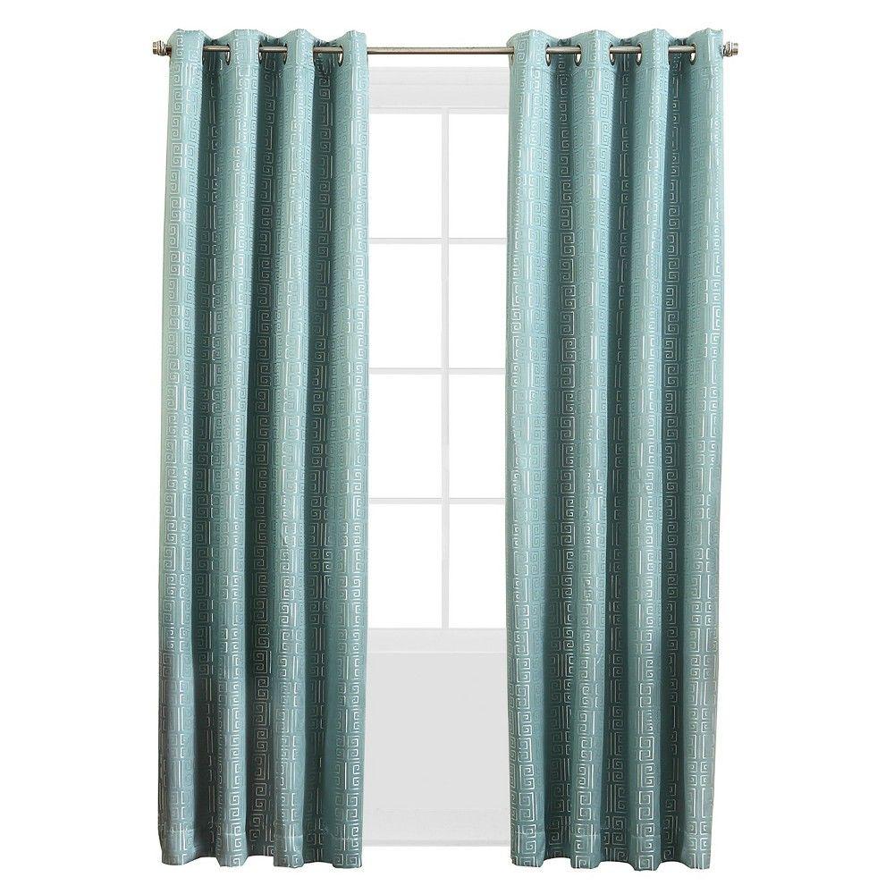 Sun Zero Tariq Blackout Curtain Panel 52 X 63 Spa Blue Panel Curtains Curtains Grommet Curtains
