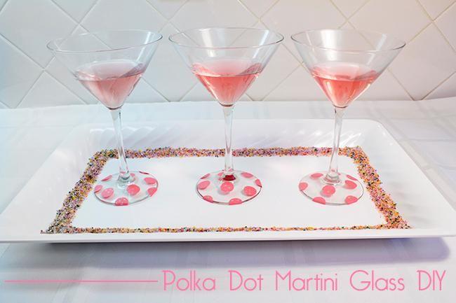 DIY Polka Dots : DIY Polka Dot Martini Glass