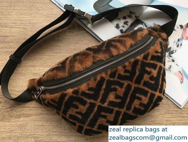 4b4320dc75b Fendi FF Print Shearling Fur Belt Bag 2018   Luxury Bags in 2019 ...