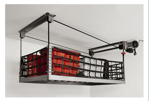 Overhead Garage Storage Motorized Storage Onrax Garage Storage Garage Ceiling Storage Overhead Storage