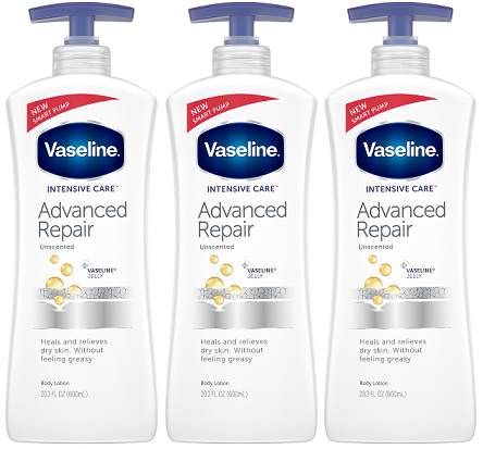 Vaseline Intensive Care Advanced Repair Unscented Body Lotion 600ml Pack Of 3 Buy 1 Get 1 20 Off Bogo20 At Checkout In 2020 Body Lotion Vaseline Intensive Care