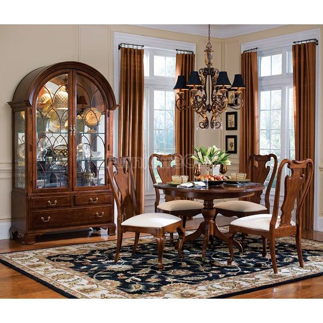 Free Kitchen Solid Oak Dining Room Sets Renovation With: Cherry Grove Round Dining Room Set
