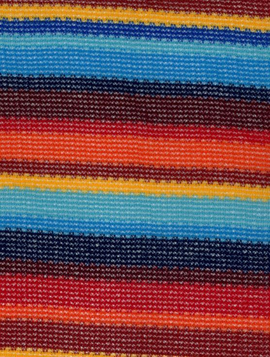 Southwest Apparel Fabric- Knit Stripe Red Blue Gold