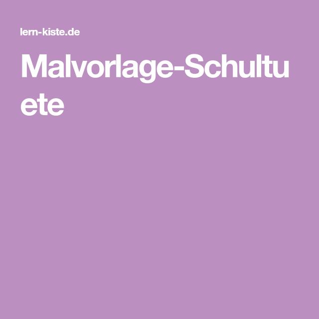 Malvorlage-Schultuete Malvorlagen Vorlagen Schule