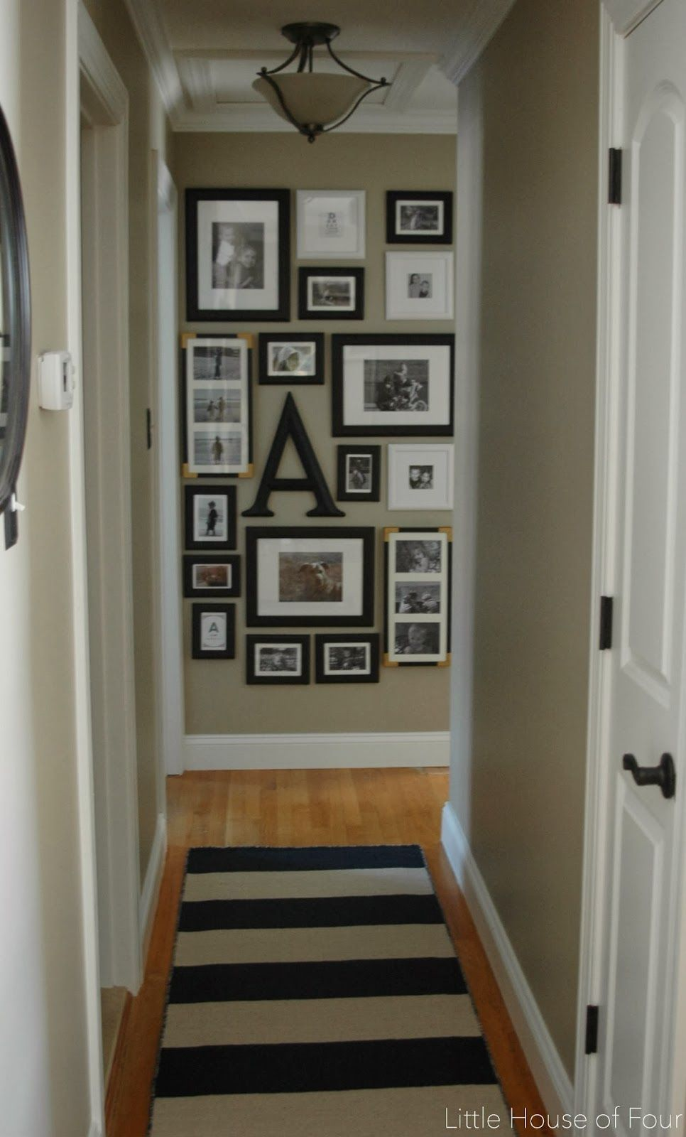 New hallway rug and gallery wall...