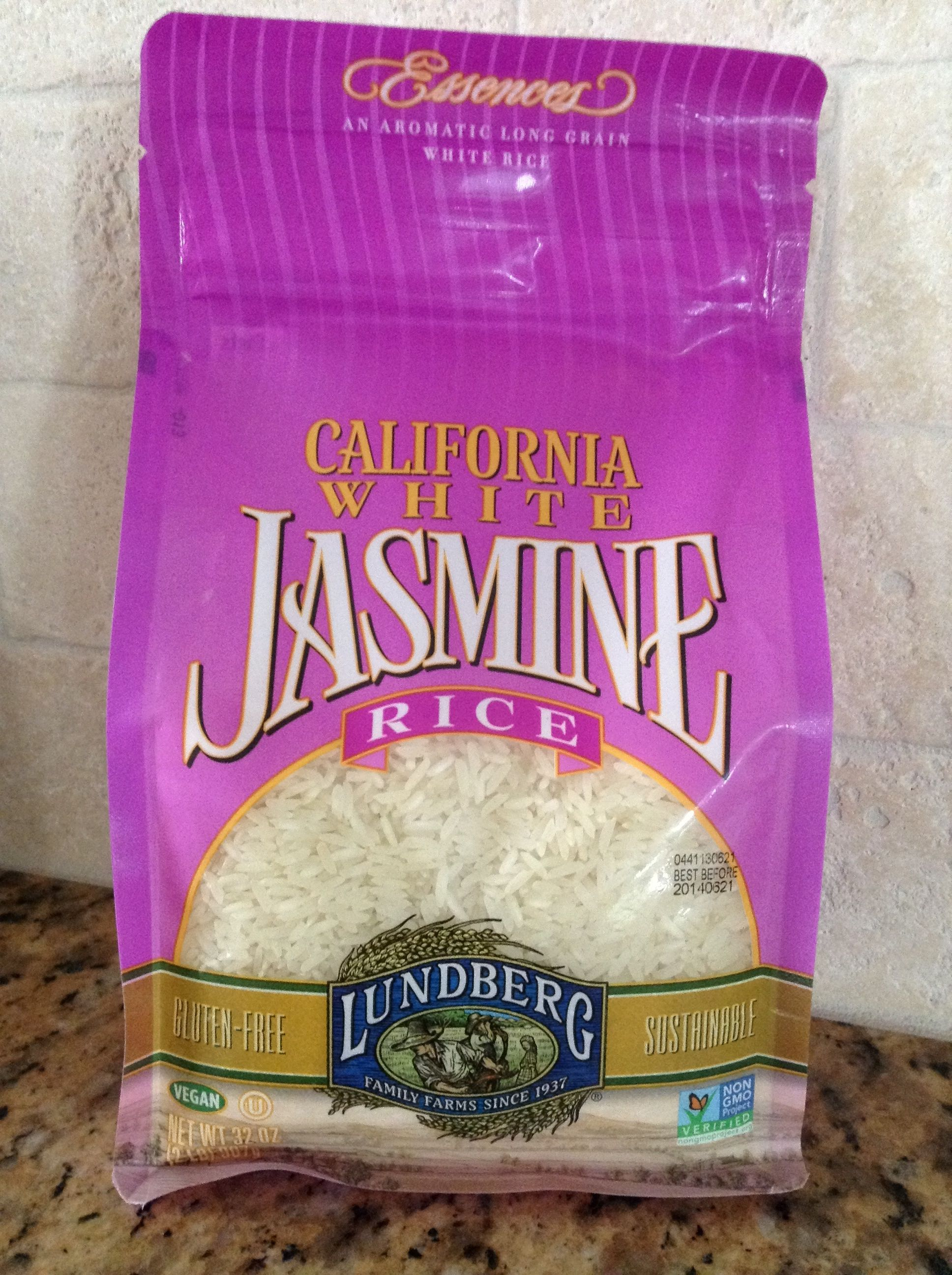 Lundberg Jasmine Rice -- GF non GMO Eco-farmed   Food ...