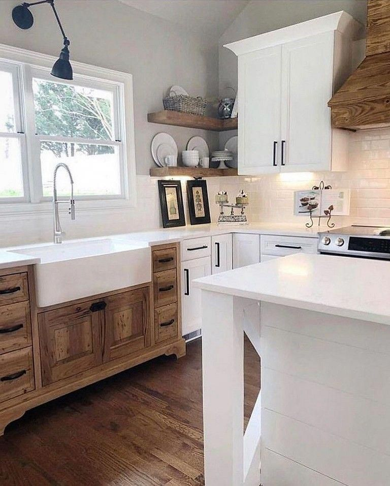 31 the top country farmhouse kitchen design ideas to on best farmhouse kitchen decor ideas and remodel create your dreams id=28301