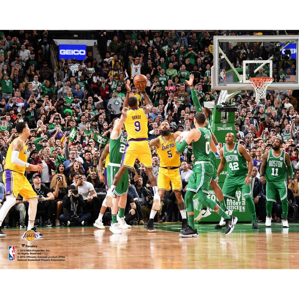 Fanatics Authentic Rajon Rondo Los Angeles Lakers Horizontal Game Winning Shot Vs Boston Celtics Unsigned Photograph In 2020 Los Angeles Lakers Boston Celtics Wallpaper Lakers