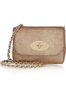 d40b5b0ffe Mulberry Lily mini metallic textured-leather shoulder bag