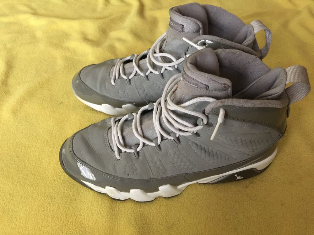 Nike Air Jordan Retro IX 9 Cool Grey White Medium Grey Size 10.5 #Jordan #