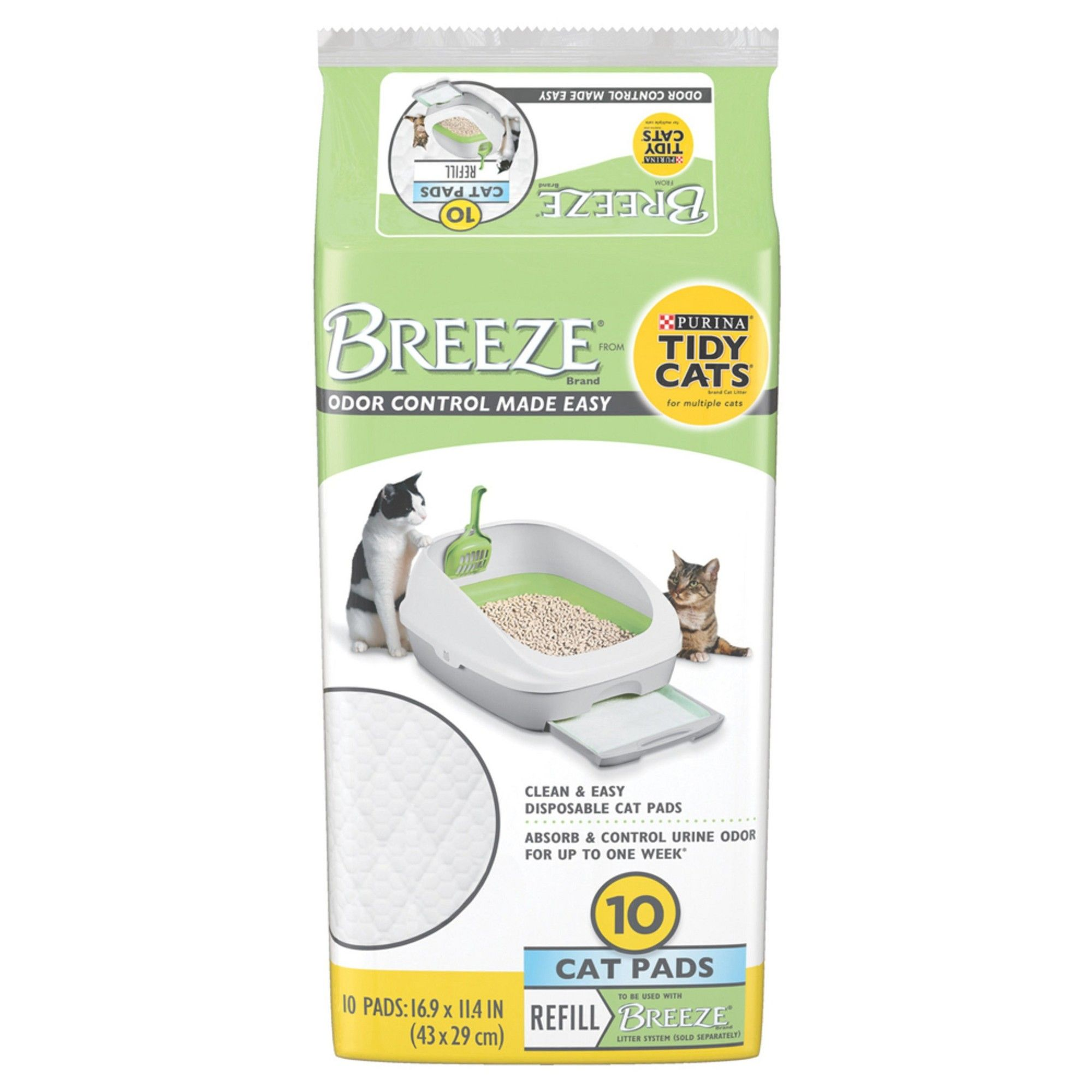 Tidy Cats Breeze Cat Pads Spring Clean Scented Tidy cats