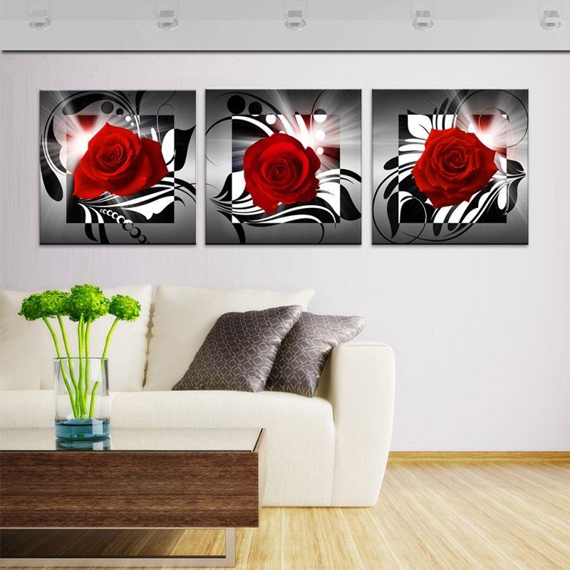 Wandbild Modern Rosa Design ohne Rahme im Wohnzimmer Wanddeko