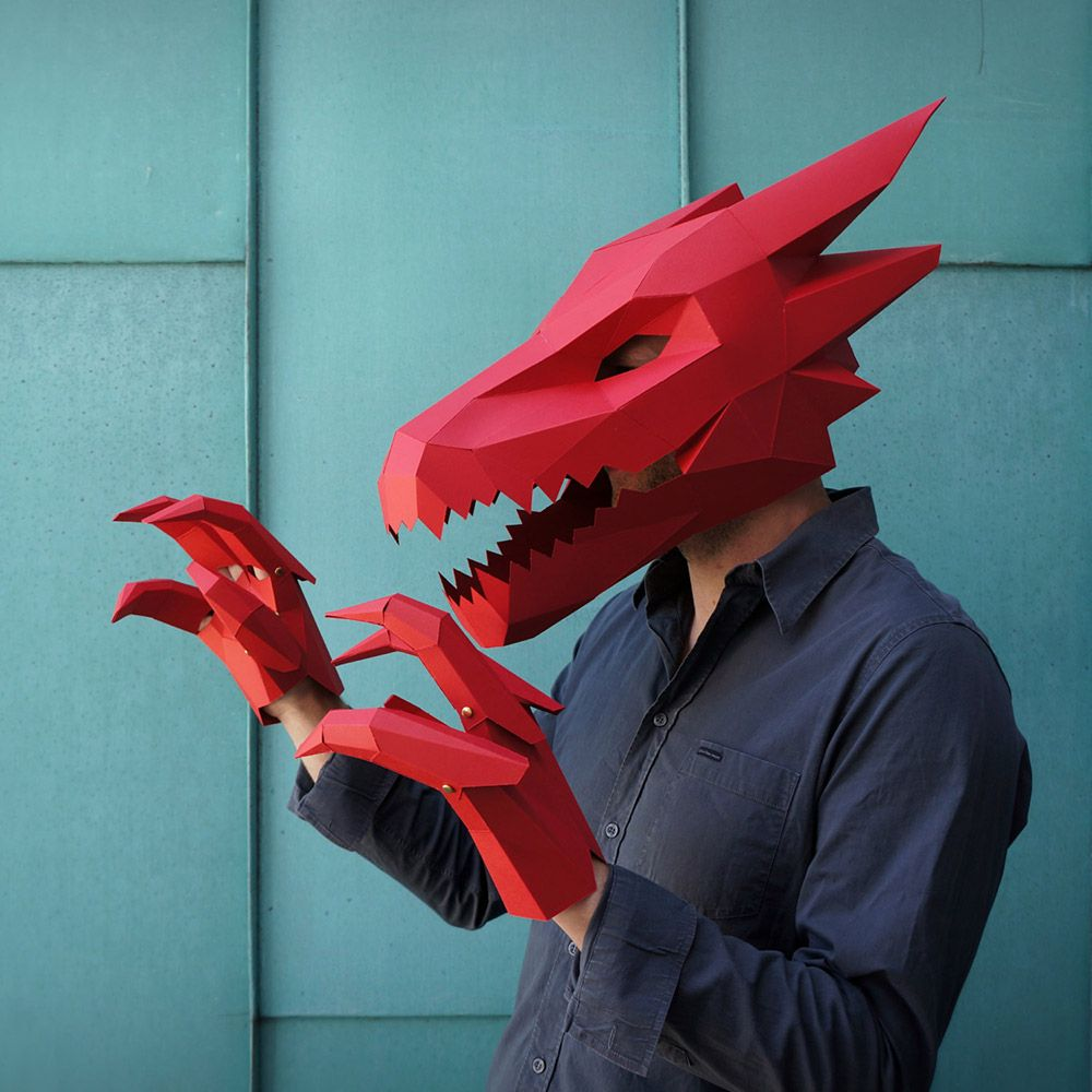 DIY, Low Poly, Animal Masks by Wintercroft. Papercraft Handmade ...