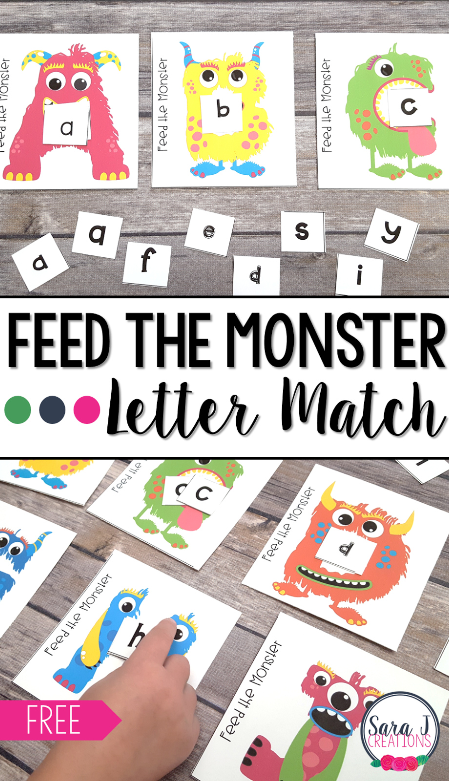 Free Feed The Monster Alphabet Match Practice Matching Upper And Lowercase Letters A Alphabet Games Preschool Alphabet Preschool Alphabet Activities Preschool [ 1600 x 920 Pixel ]