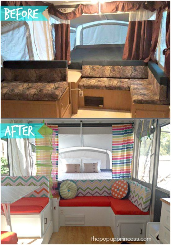 Leigh S Pop Up Camper Makeover Camping Camper Makeover