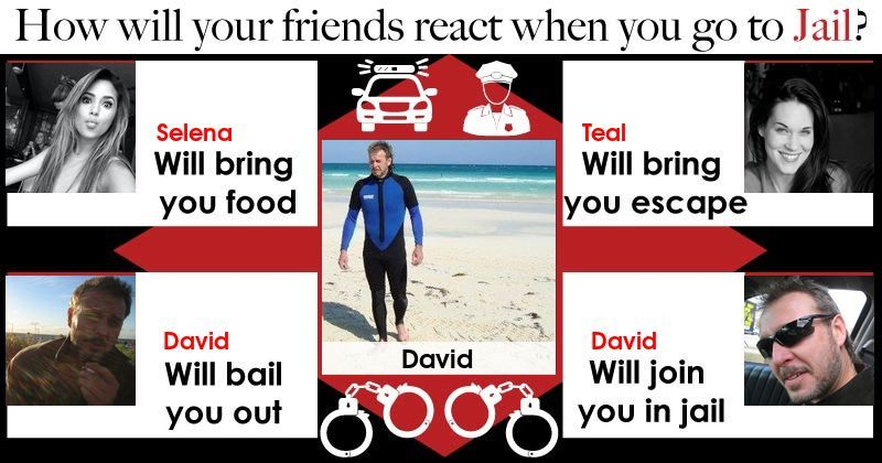 What will your friends do when you're convicted? Click below to find out.