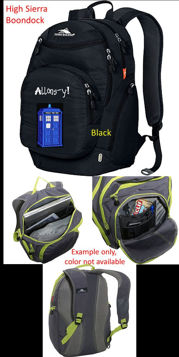 Custom Embroidered Doctor Who High Sierra Laptop Backpack - Heavy Duty!