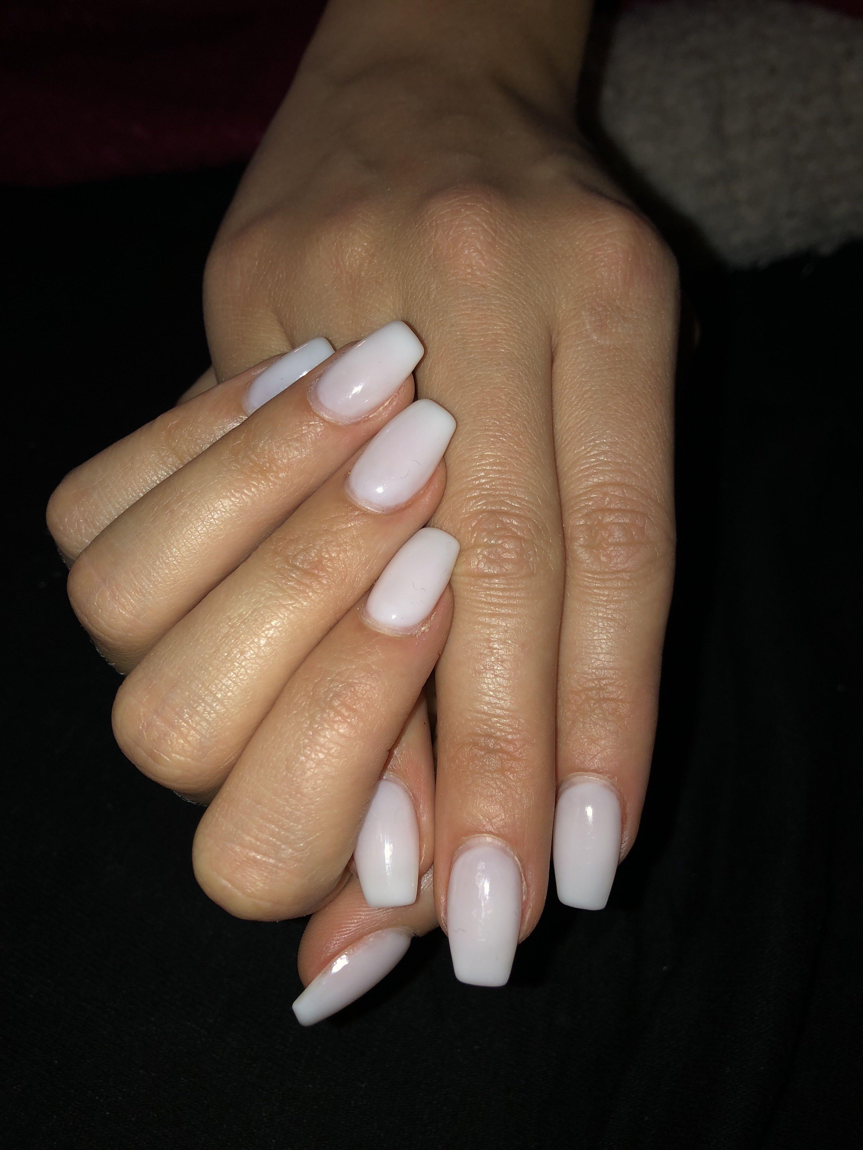 Natural White Gel Nailart Nailart Gel Gellook White Nageldesign Nailart Twinza Nails Nagel Weiss White Gel Nails Short Acrylic Nails Gel Nail Art