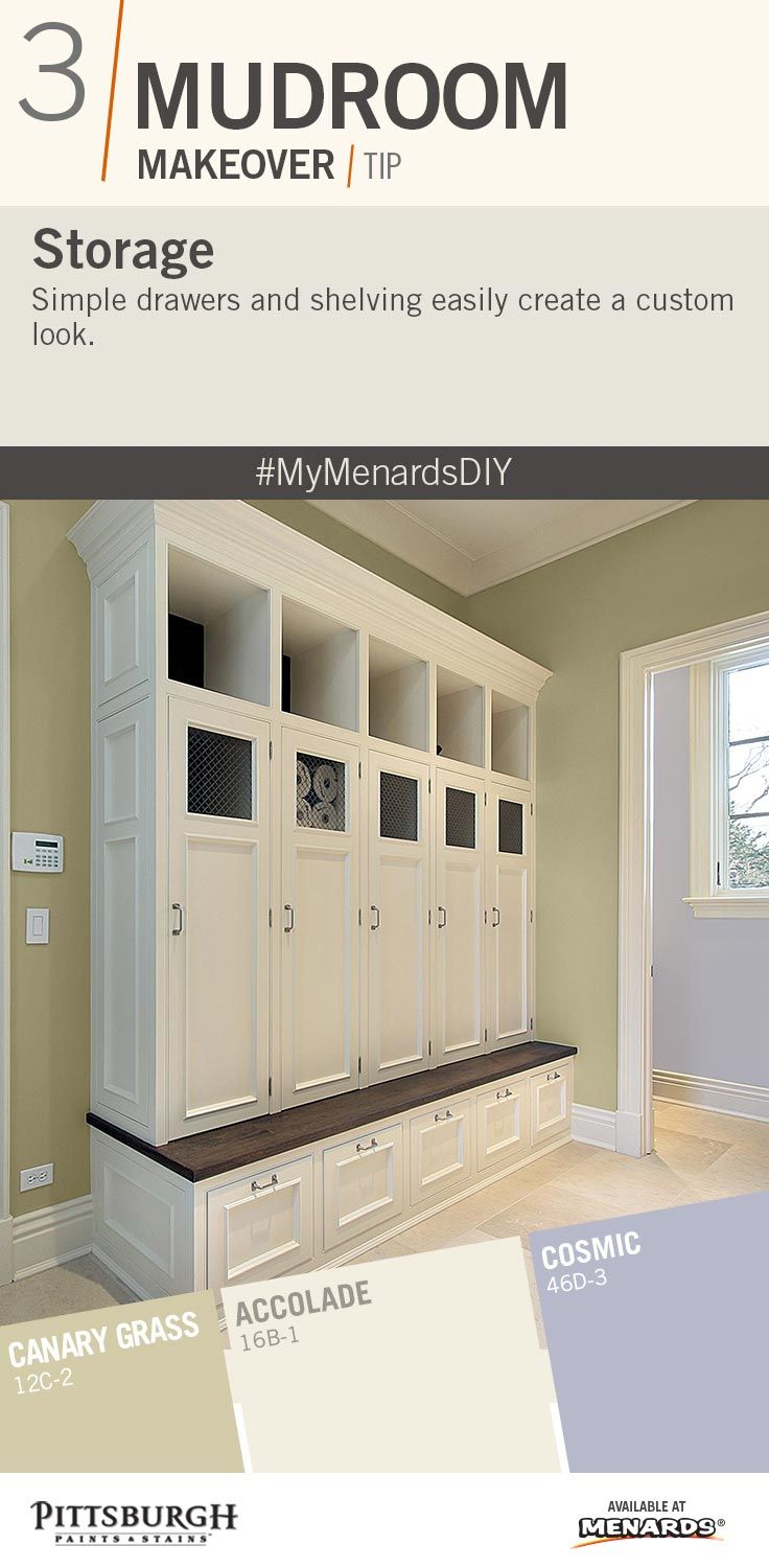 Mudroom makeover inspiration for storage in a mudroom paint simple