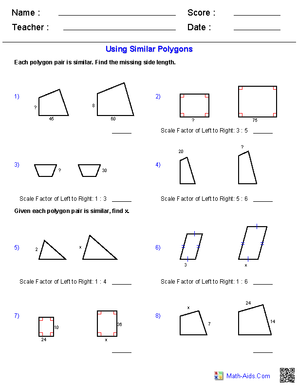 Similar Polygons Worksheet Answers : similar, polygons, worksheet, answers, Using, Similar, Polygons, Worksheets, Geometry, Worksheets,, Interactive, Notebook,, Education