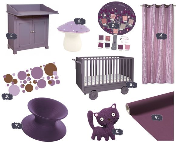 Chambre à coucher bébé | Chambre Violette : Une déco toute ...