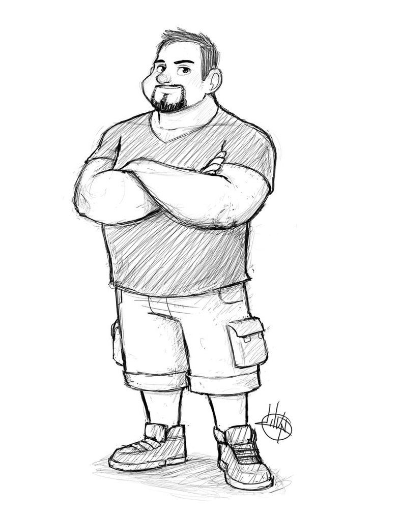 Jason Full Body Sketch By Luigil On Deviantart Body Sketches Character Design Male Character Design