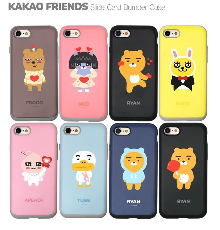 efc1fc2b364b85 KAKAO FRIENDS Slide Card Bumper Cell Phone Case Cover Protector For  iPhone7 Plus  FRIENDSPOPKAKAO