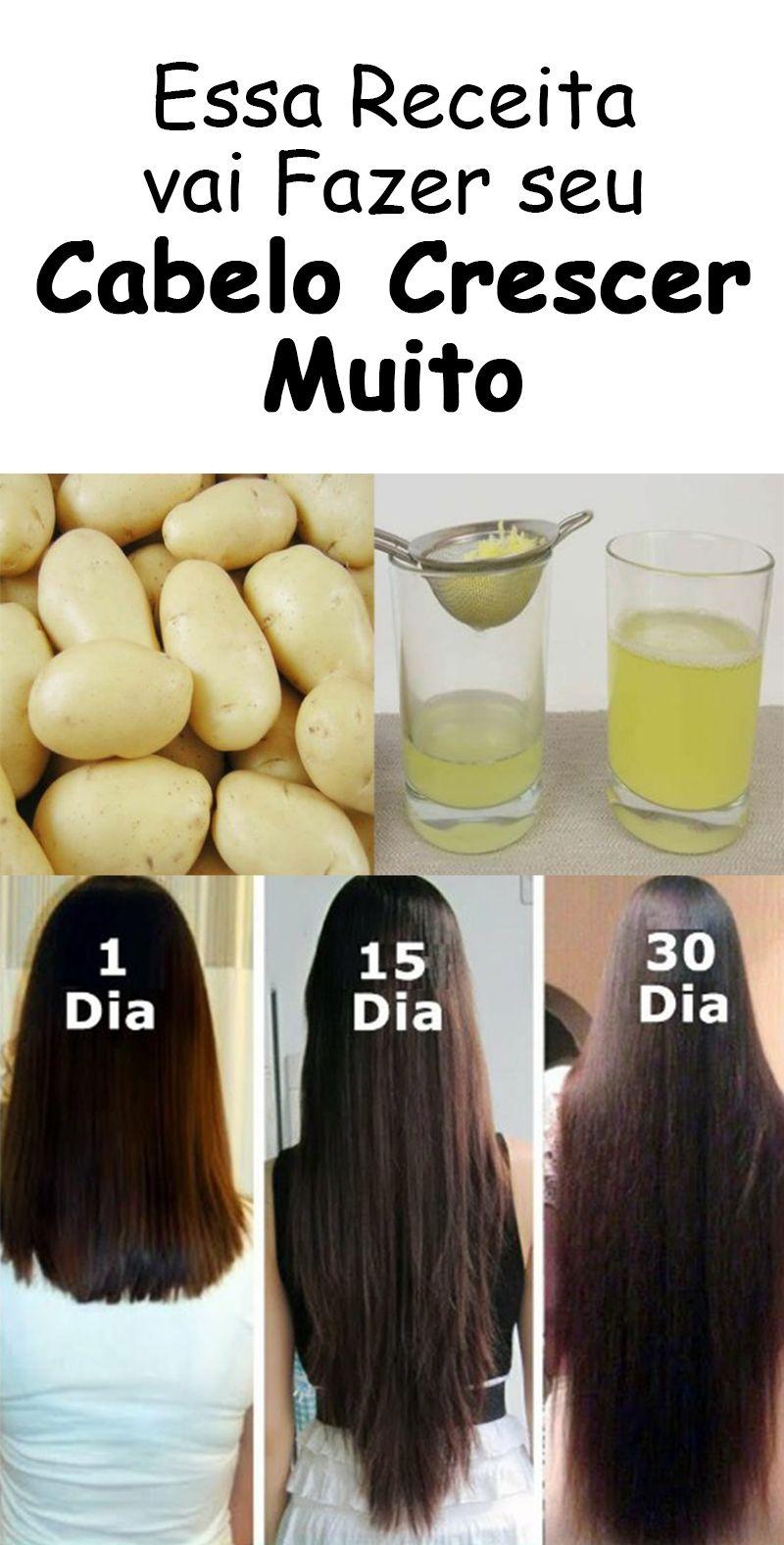 Receita de Suco de Batata Para Fazer o Cabelo Crescer #cabelo