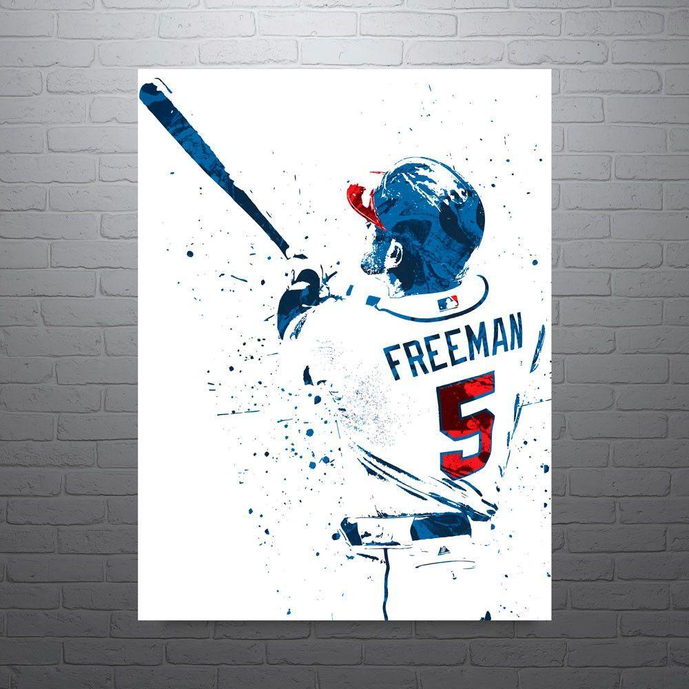 Freddie Freeman Atlanta Braves Poster Atlanta Braves Atlanta Braves Man Cave Braves