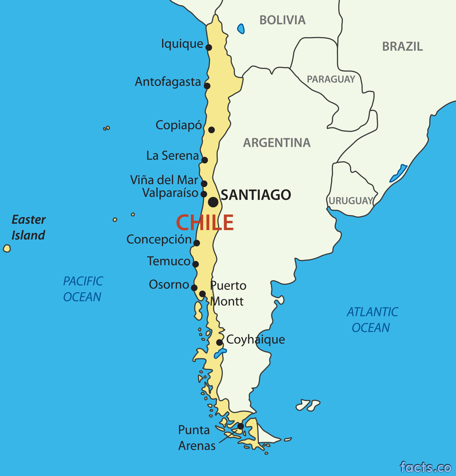 Chile Map Yahoo Image Search Results Chile Pinterest - Argentina map cities