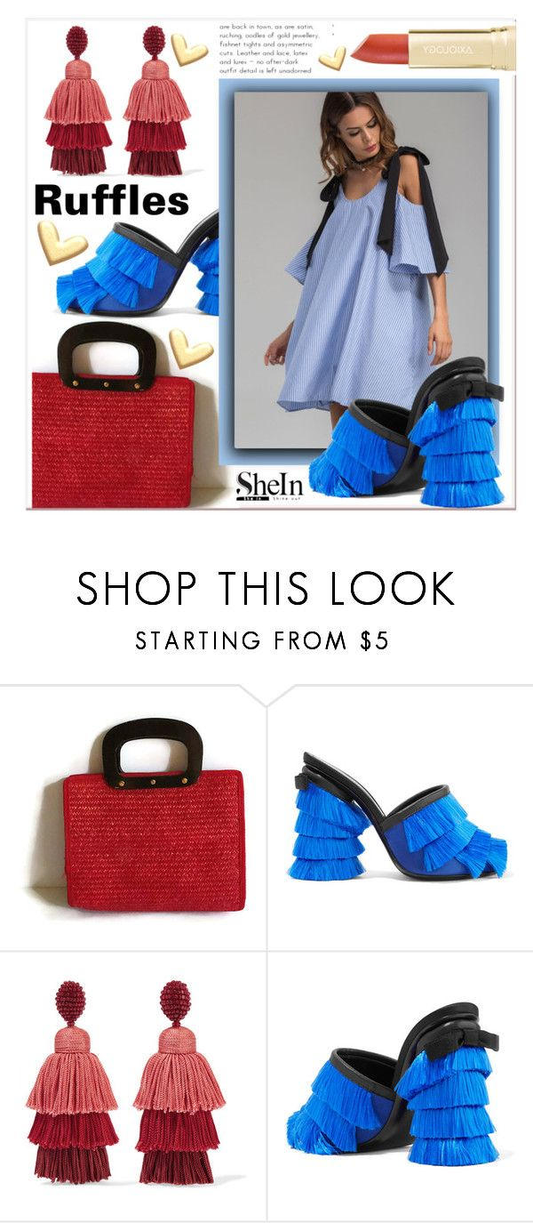 """shein"" by konstadinagee ❤ liked on Polyvore featuring Marco de Vincenzo and Oscar de la Renta"