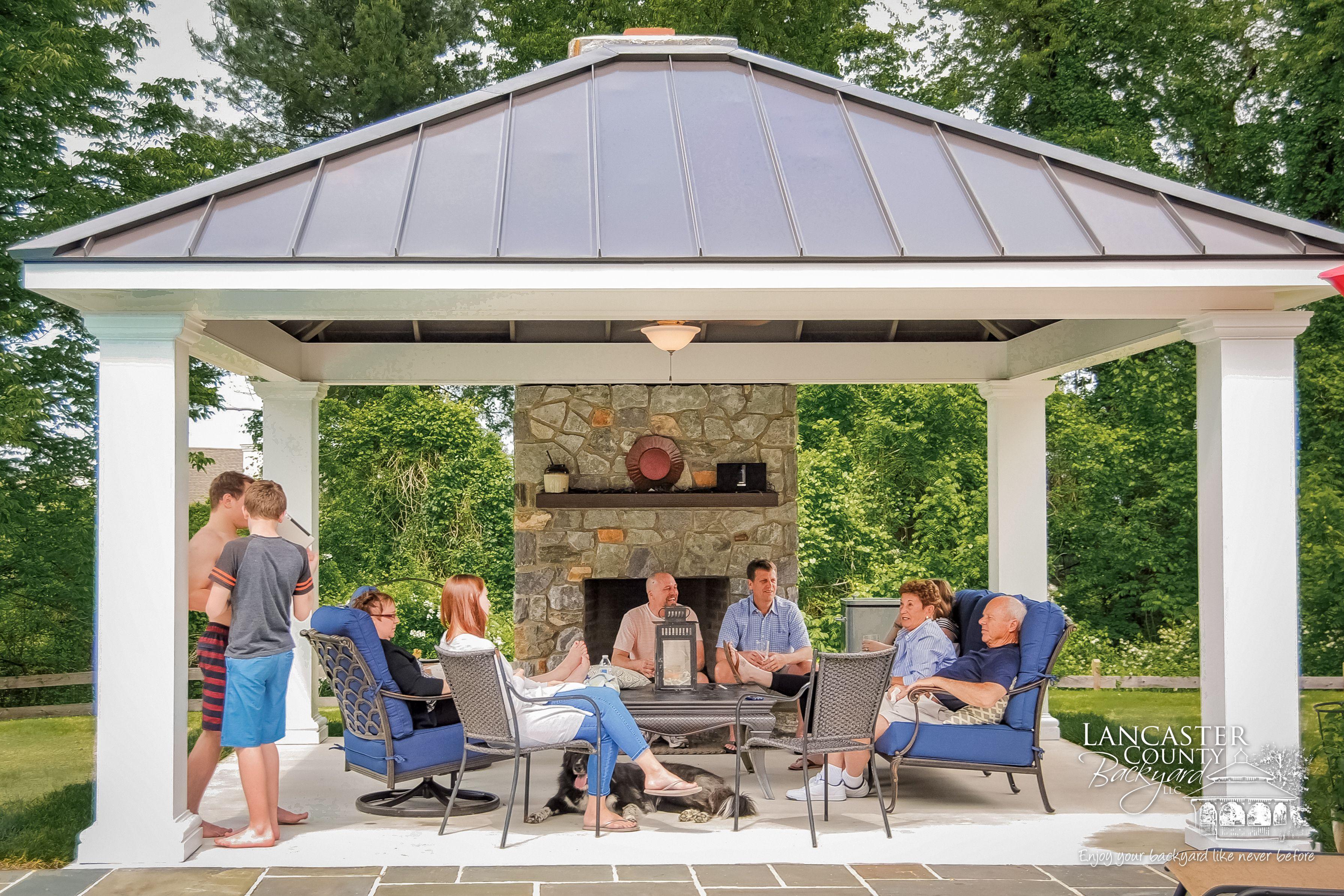 2020 Vinyl Pergola Backyard Pavilion Outdoor Pavilion