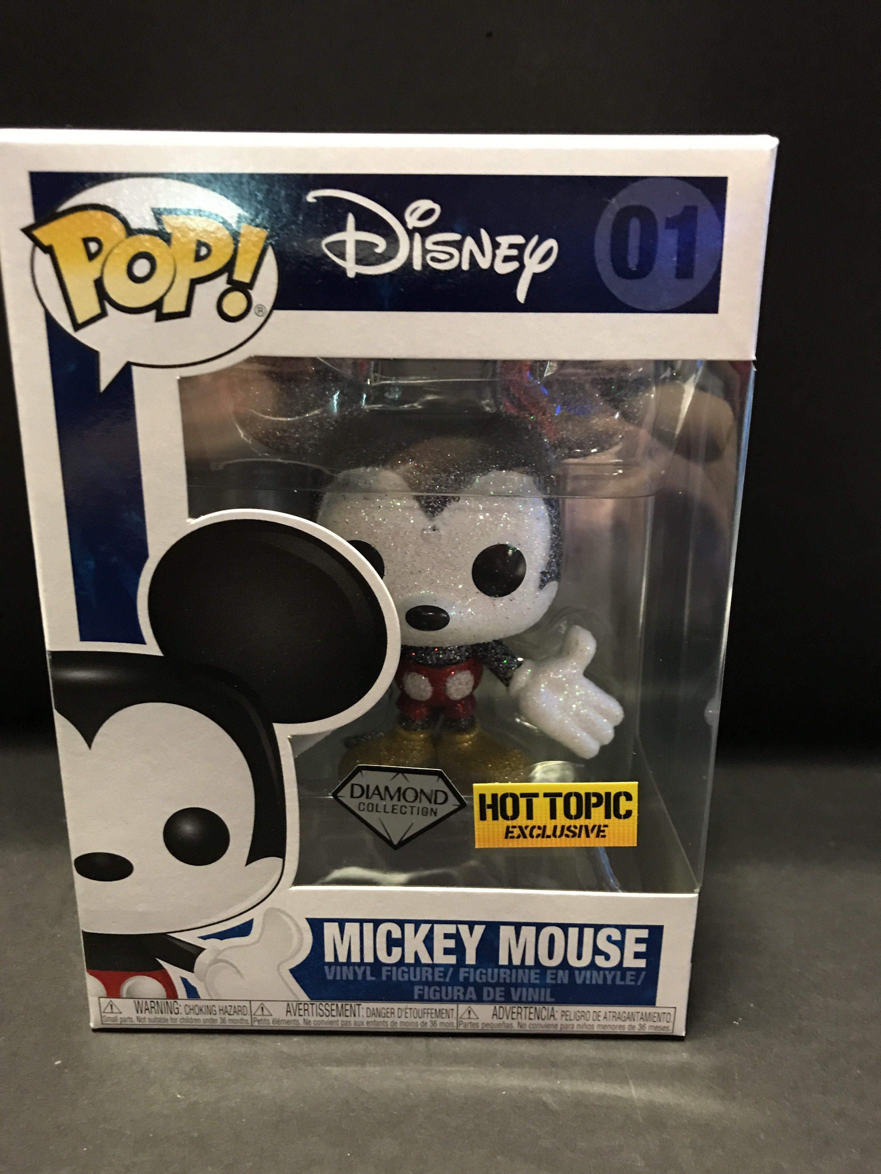 Mickey Mouse Diamond Glitter #01 Exclusive Disney Funko Pop