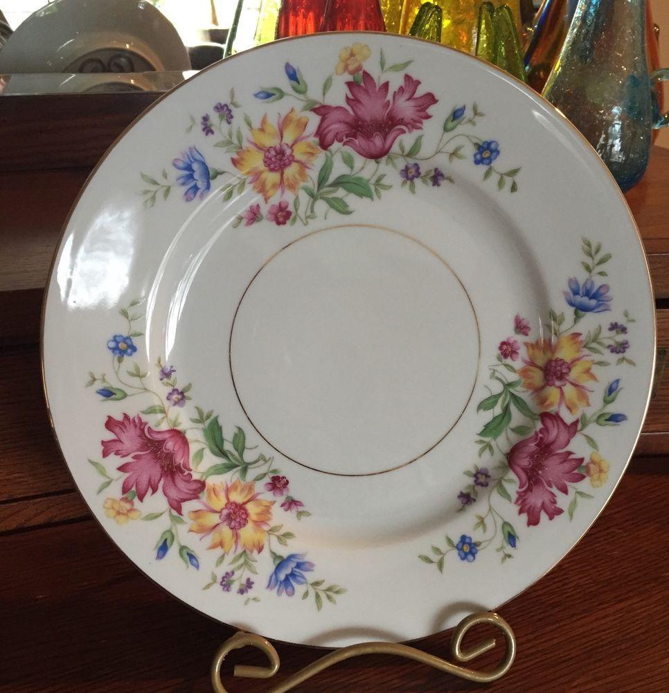 VINTAGE ESCHENBACH BAVARIA BARONET CHINA  LORNA  10  dinner plates (set of 4 & VINTAGE ESCHENBACH BAVARIA BARONET CHINA