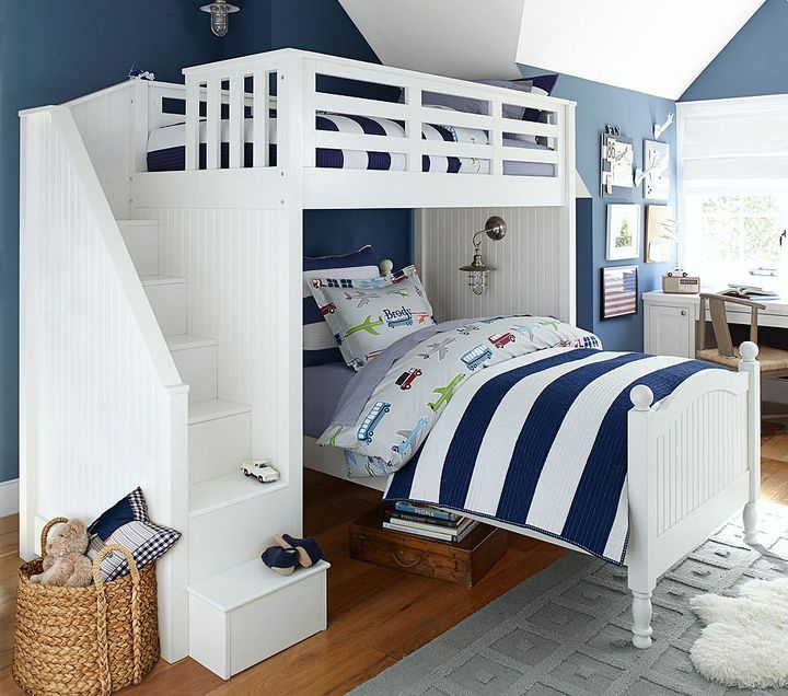 Catalina Stair Loft Bed Rooms For Kids Of All Ages Boys Room Decor Kid Beds Kids Bunk Beds