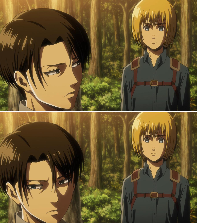 Levi and Armin AoT season 3 Attack on titan anime