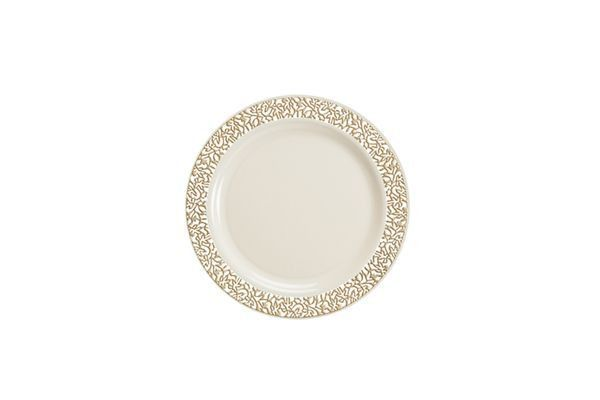Lace Collection Premium China Like Plastic Wedding And Party Dinnerware Plates Set Of 120